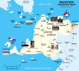 Peta Pariwisata Provinsi Banten